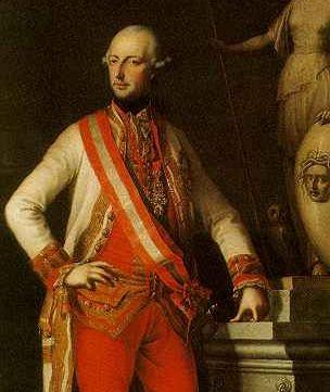 Císař Josef II. na dobovém obrazu