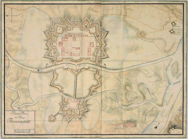 Plán pevnosti z roku 1790