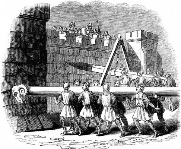 Útok na středověké hradby