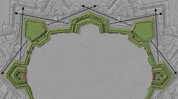 3d-pevnost-pudorys-tvar-bastionu