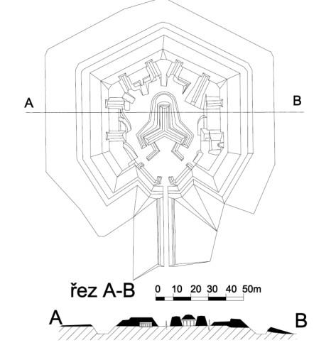 Plán fortu Bohušovice