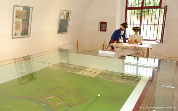 Muzeum Terezín - figuríny inženýra a velitele