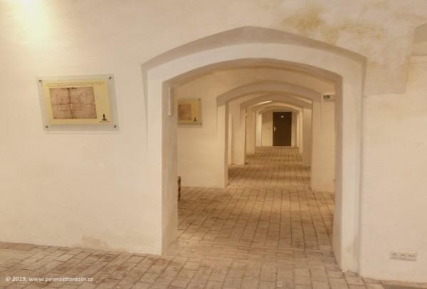 Muzeum Terezín - zrekonstruované prostory retranchementu 5