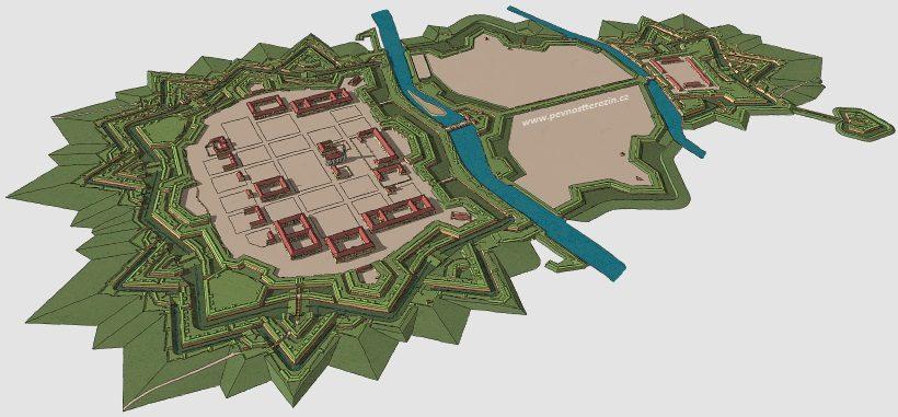 Pevnost Terezín - 3D model