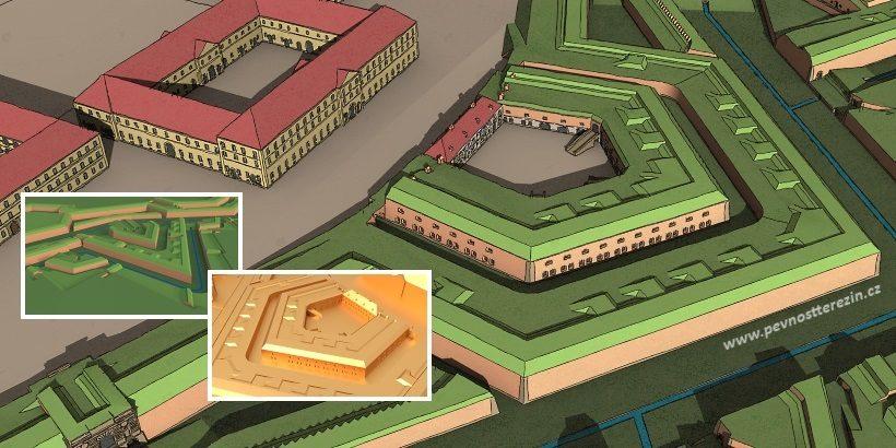 Pevnost Terezín 3D model - vizuální styl