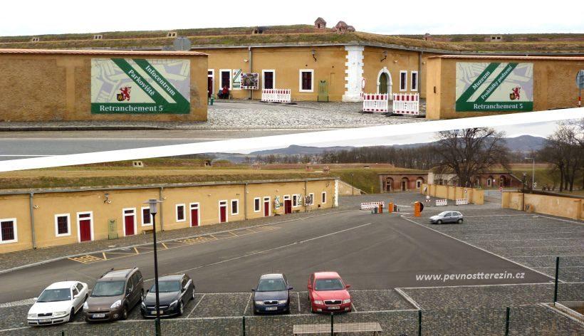 Retranchement 5 - infocentrum, parkoviště