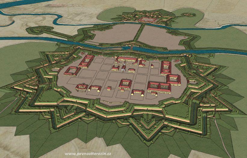 Pevnost Terezín - model, celek
