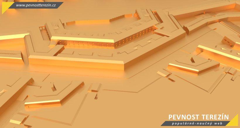Pevnost Terezín - broznový 3D model - bastion 4