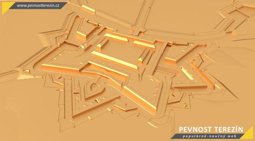 Pevnost Terezín - broznový 3D model - Malá pevnost