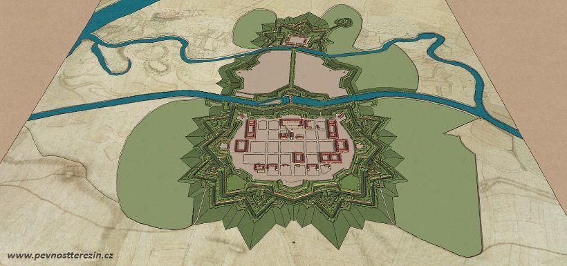 3D pevnost Terezín - rozsah modelu