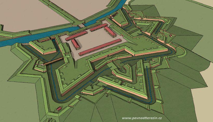 Malá pevnost Terezín (3D model)