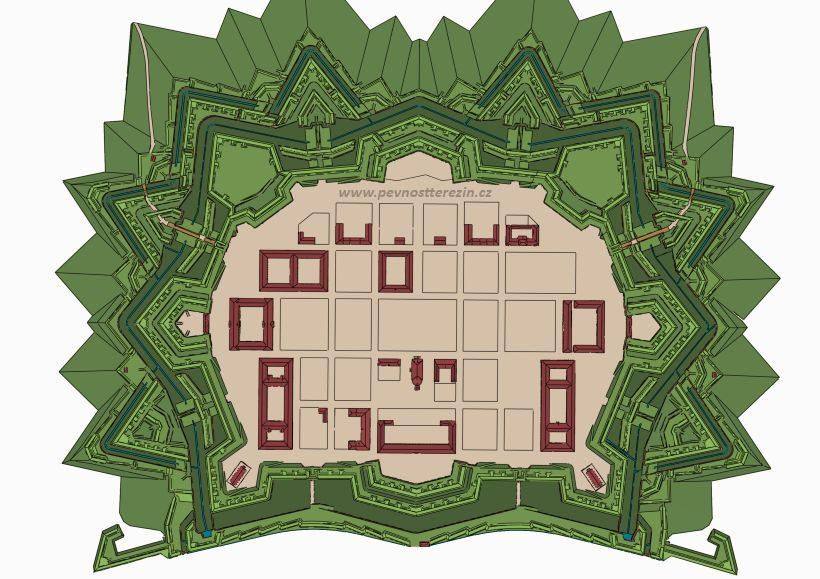 Hvězdicovitá Hlavní pevnost Terezín