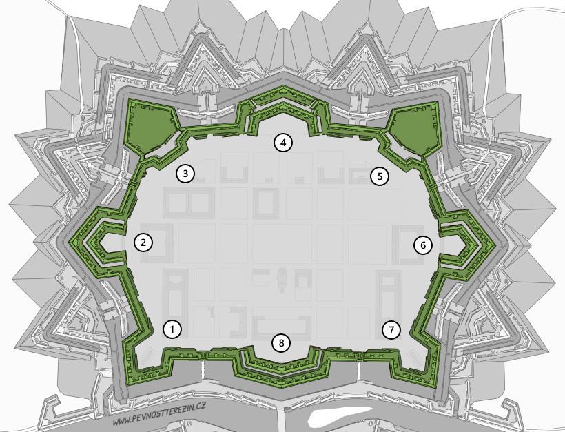 Hlavní pevnost - bastiony